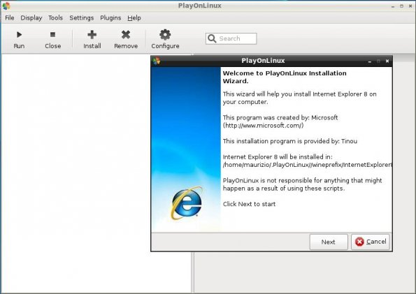 playonlinux explorer7 start
